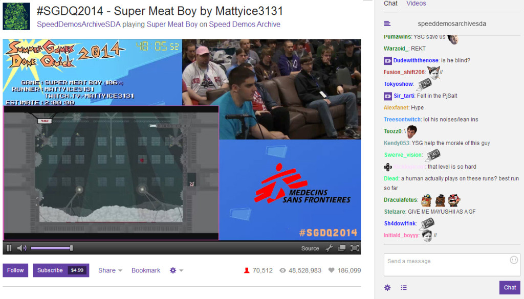 speedrun super meat boy