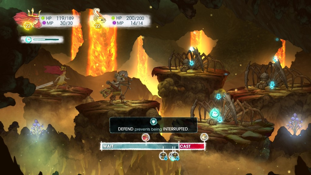 Child of Light does not believe in immunity for status ailments for bosses. This is a fresh approach we would like to see more.