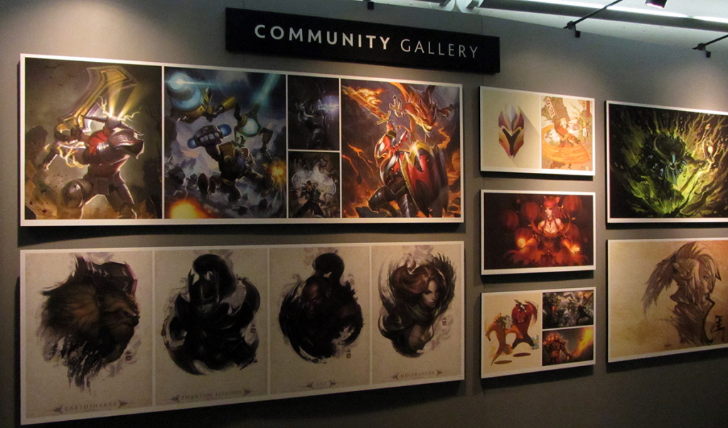 Most corners of the KeyArena were filled with statues, activities and even this beautiful community gallery.
