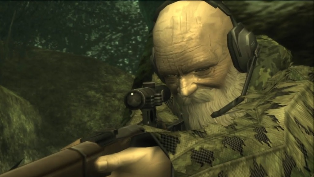 The End in Metal Gear Solid 3 can die of 'old age'