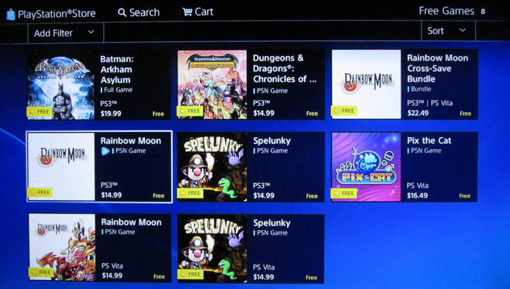 Playstation store counts the same game 3 times.