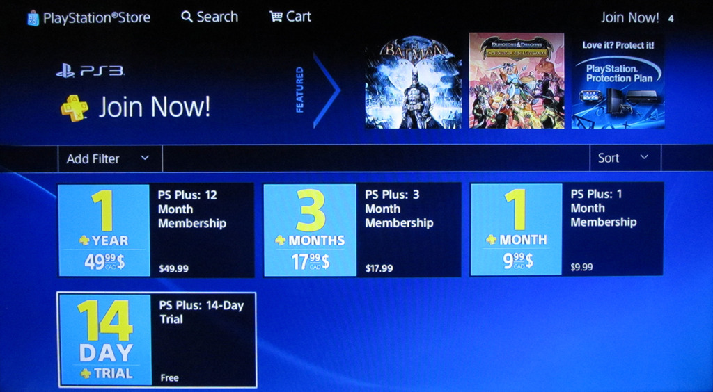 Playstation plus is a horrible experience