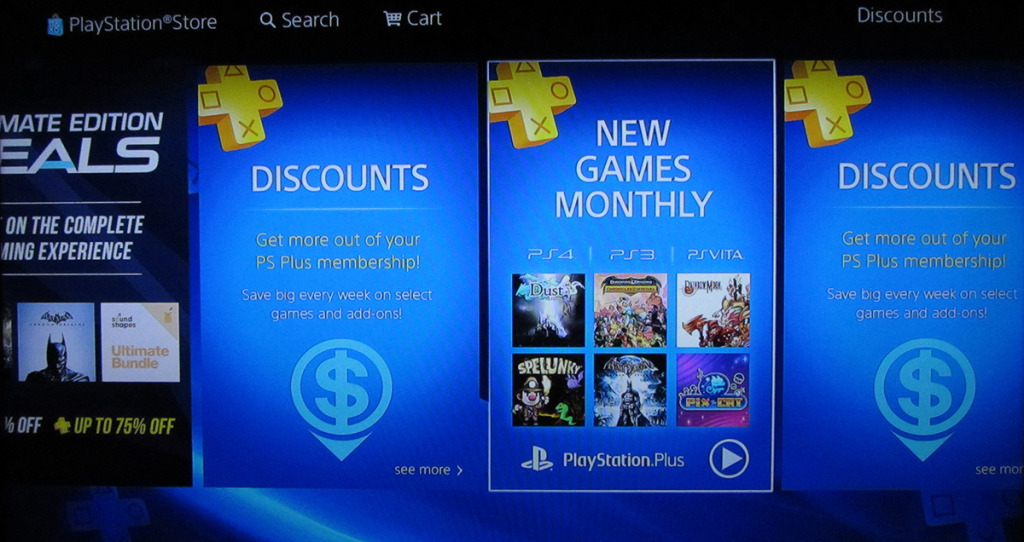 Playstation plus on the psn store is rubbish