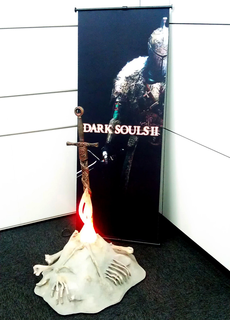 Dark Souls iconic bonfire at the FromSoftware office