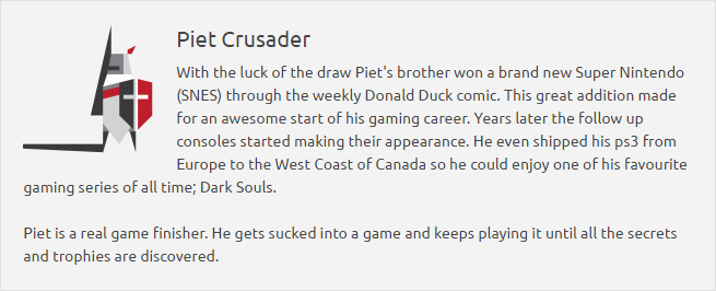 Piet crusader author page link